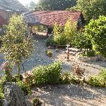 Blick von der großzügigen Terrasse der Familienzimmer