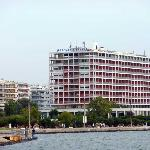 Back of hotel on the Gulf of Thessaloniki
