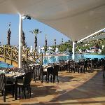 Outdoor terrace, main restaurant, breakfast time
