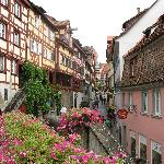 a view in the city of Meersburg