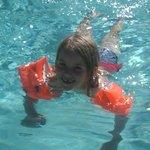 Fun in the clear pool
