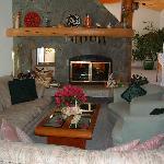 Fireside guest lounge