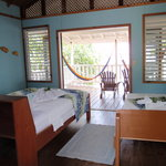 interior of our gorgeous cabana