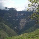 View of Gocta Waterfall (third highest in the world) from Gocta lodge