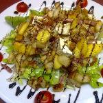 une super salade de chevre chaud original