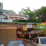the entrance of the NORTHAM BEACH CAFE