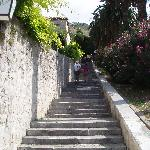 The steps leading into Old Town which must be climbed every day.