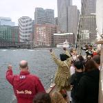 Boston Tea Party on Liberty Clipper