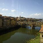 View of the Ponte Vecchio Bridge from the Uffizi Gallery