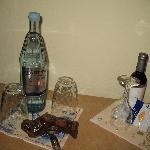 Das kostenlose Wasser und Wein