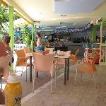 The pool breakfast area