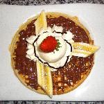 Waffle de Nutella y Banano