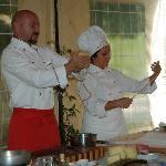 chefs making pasta
