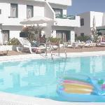 The apartments with the small pool