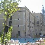 balneario visto desde la piscina.