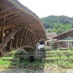 The bridge to the resort and the main restaurant