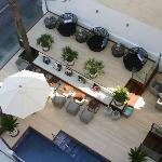Loungen från vår balkong