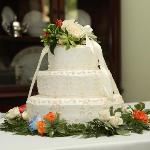 Our Wedding Cake Designed from details of my dress