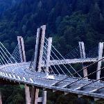 New bridge at the entrance to Davos