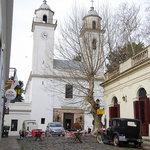Iglesia matriz seen from Calle de Portugal.