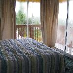 Queen bedroom-covered porches on 2 sides!