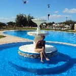 17.- Parque Termal de Federación : Espejo de agua y fuente