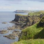 view of Dunluce Castle on the way to The Giant's Causeway