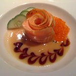Salmon Rose with Miso Sauce