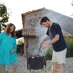 barbecue di fronte gli appartamenti
