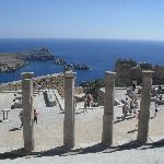 view from the acropolisat lindos