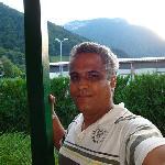 Décor face à l'hôtel avec une vue imprenable sur la montagne