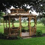 Lovely garden with gazebo