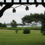 View from the gazebo to the beach