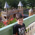visione del parco dell'hotel dalla stanza