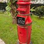 Vintage post box in operation