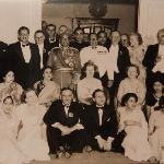 The Maharaja of Burdwan with family and guests at the Elgin