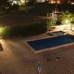 New block pool by night