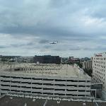 View from the room (see the jet)