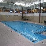Nice pool area (lounge area above)