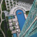Pool view from 26th floor