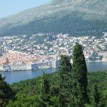 View from fortress over to Dubrovnik