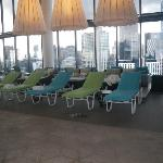 Melbourne: Crown Metropol:Swimming Pool deck chairs