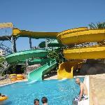 Waterpark slide area