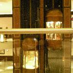 Lifts in the centre of the hotel