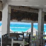 Restaurant at Posada with beach in front