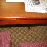 Another damaged table
