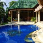 private pool inside the villa!