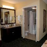 Separate sink and bathroom