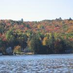 Crystal Lake in fall- view from our dock