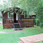 teal cabin